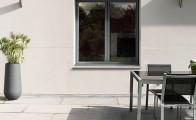 Fenêtre et porte-fenêtre à frappe en alimunium